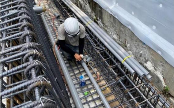 1F 底板水電管路配置(花台深層排水)
