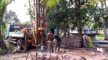 Cambodian Well Well Underway