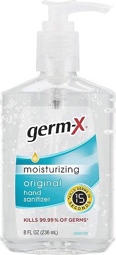 Germ-X Original Hand Sanitizer, With Pump, 8 Fl Ounce (pack Of 12), 96 Fl Oz