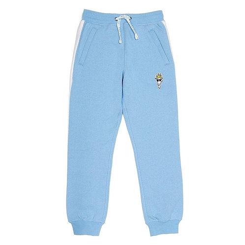 GOAT Fleece Joggers w/ Stripe - Carolina Blue