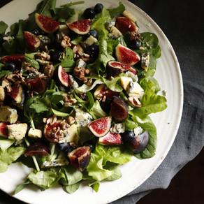 salade figues noix bleu
