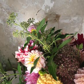 Monday last dahlias bouquet