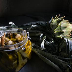 mes bocaux d'artichauts