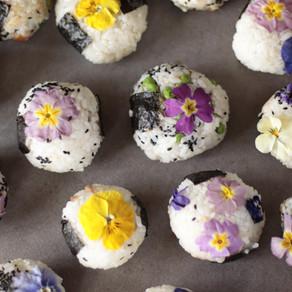 mes onigirs fleuris
