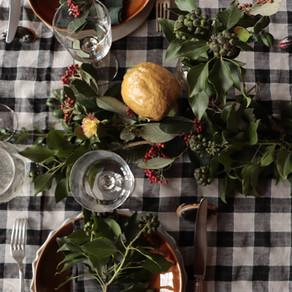 table de fêtes d'hiver
