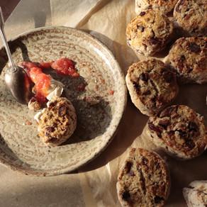 home made goûter : mes scones dattes et noix