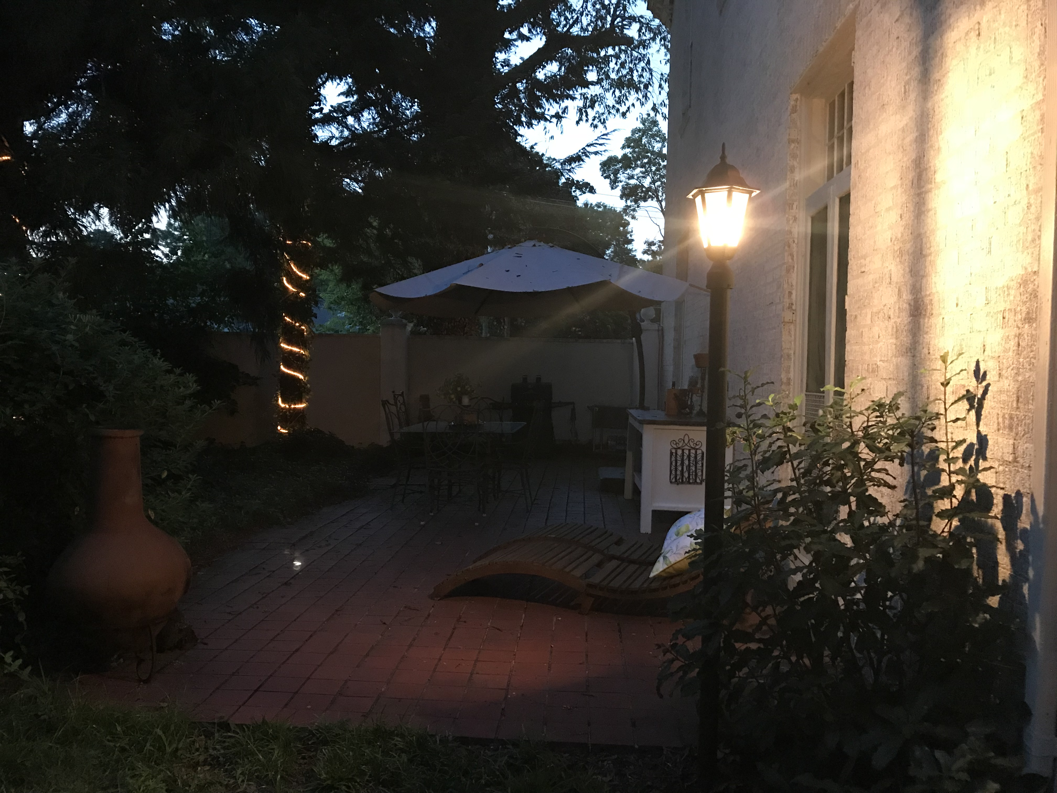 Courtyard Night Grilling Area