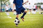 Teenagers Boys Playing Soccer Football M