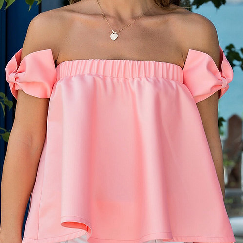 Flared top with bows