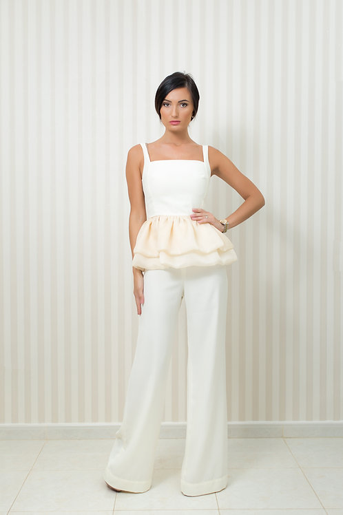Ruffled Bottom Top and Trousers Set
