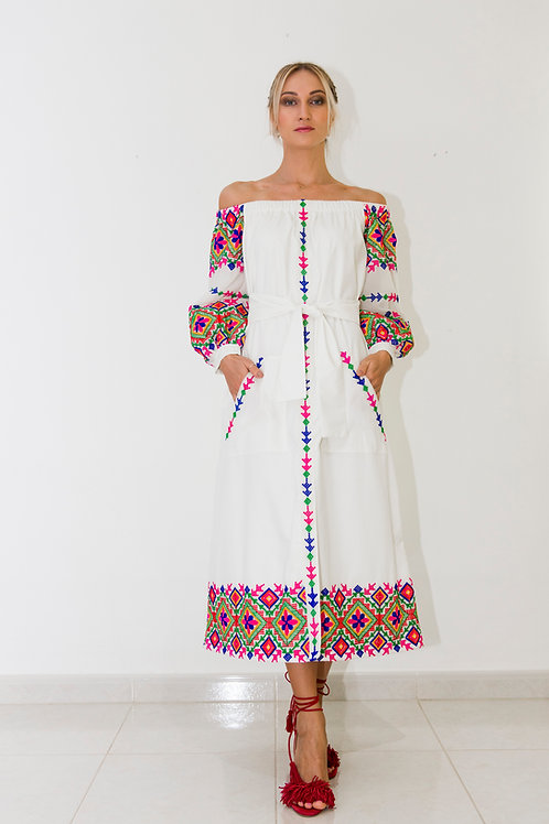 """Russian Doll"" Embroidered dress"