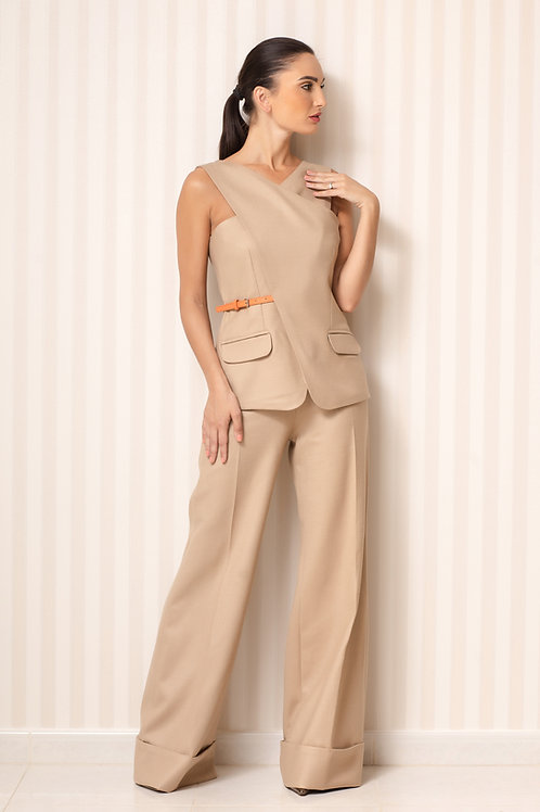Vest and High waist trousers Set