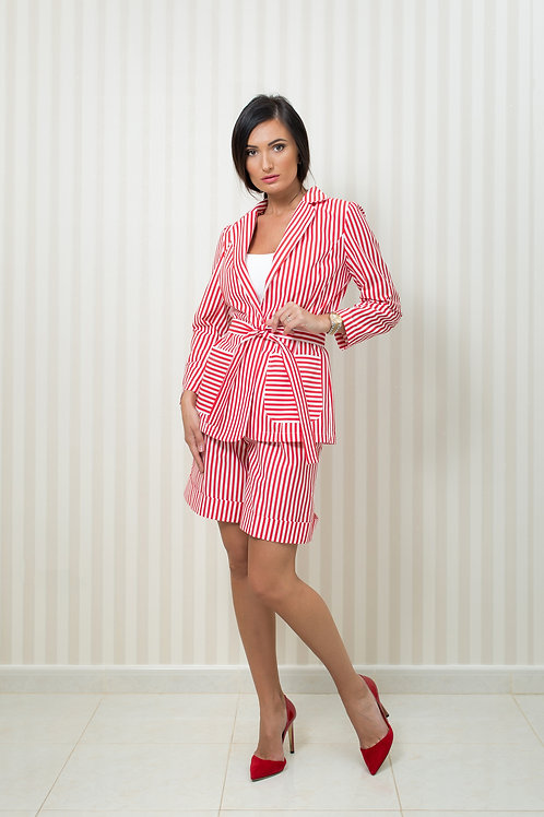 Stripy Blazer and Shorts Set