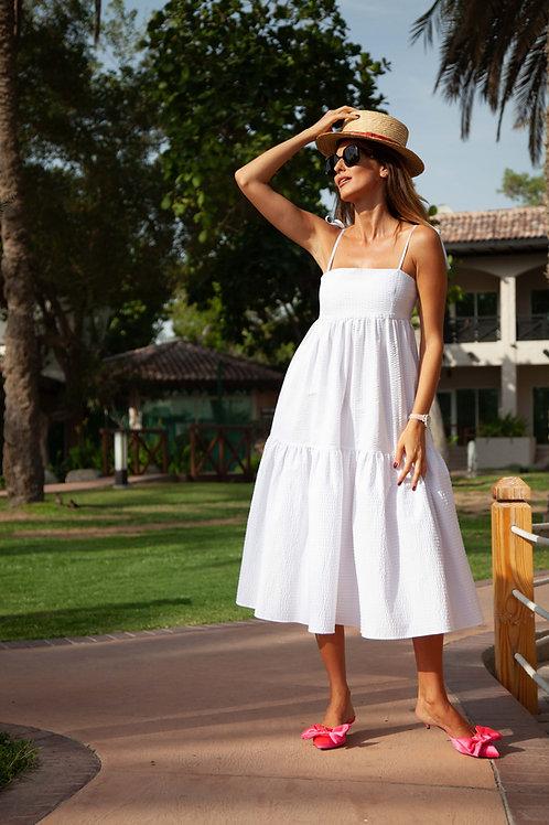 Tiered cotton summer dress