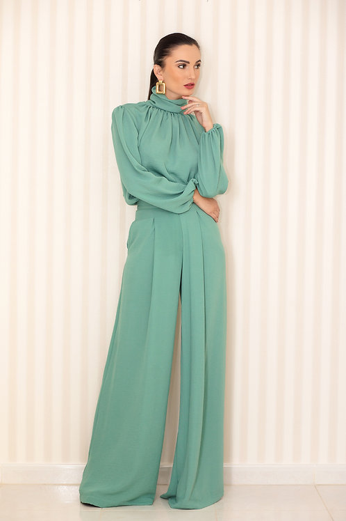 Turtle neck blouse and Trousers