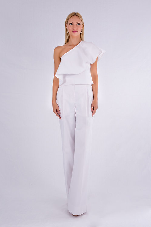 Flared one shoulder top and pants