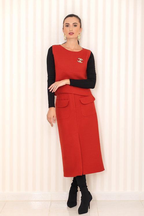 Sleeveless Top and Skirt Set