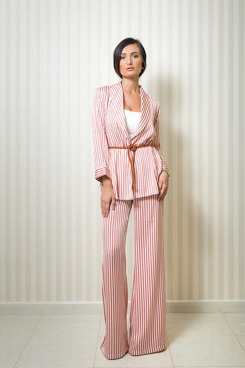 Stripy Blazer and Trousers Set