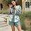 Thumbnail: Linen print detailed shirt and shorts set