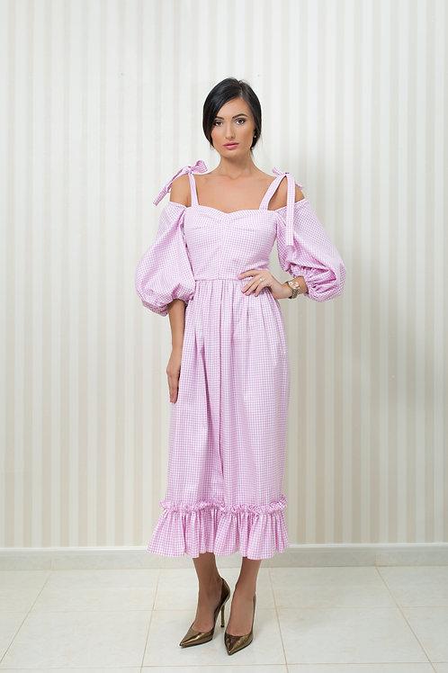 GinghamOff the Shoulder Dress