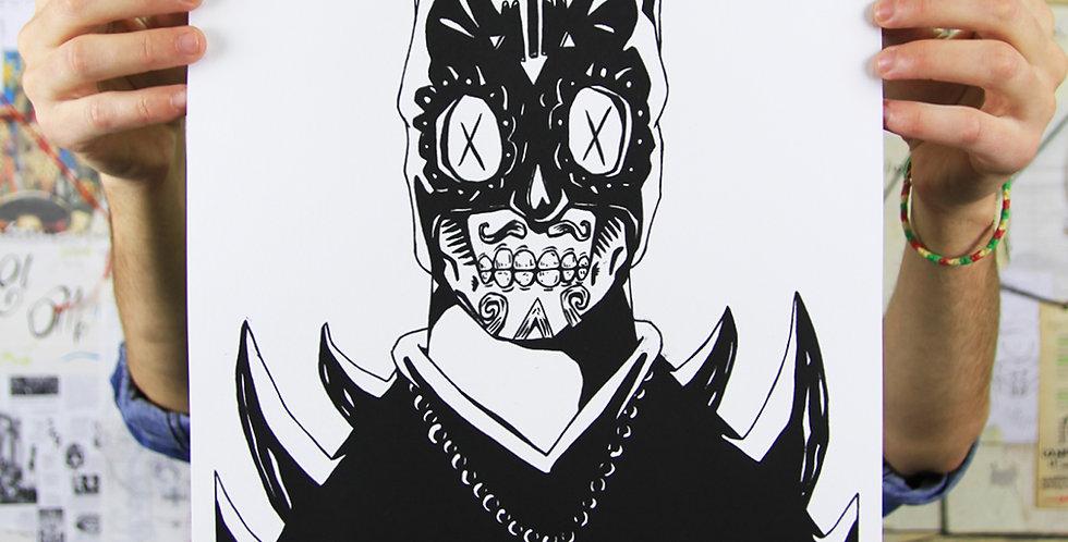 Serigraphy El Murciélago Shadow