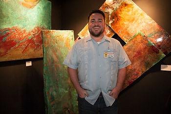 Jacob G Colburn Artist Copper Metal sculptor acid patinas Daryl apprentice