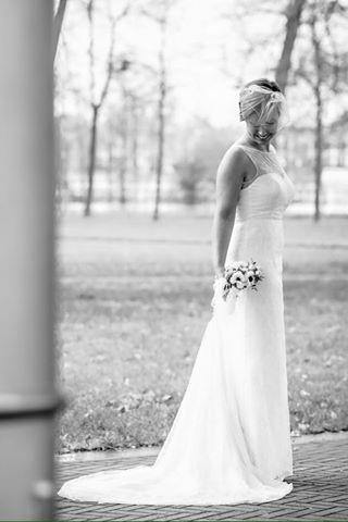 bruid in zwart wit