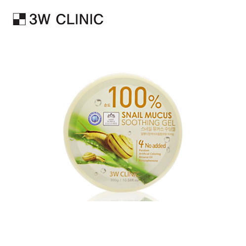 [3W CLINIC] SNAIL MUCUS SOOTHING GEL 100%