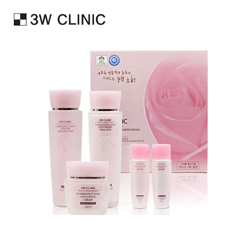 [3W CLINIC] FLOWER EFFECT SKIN CARE 3-SET