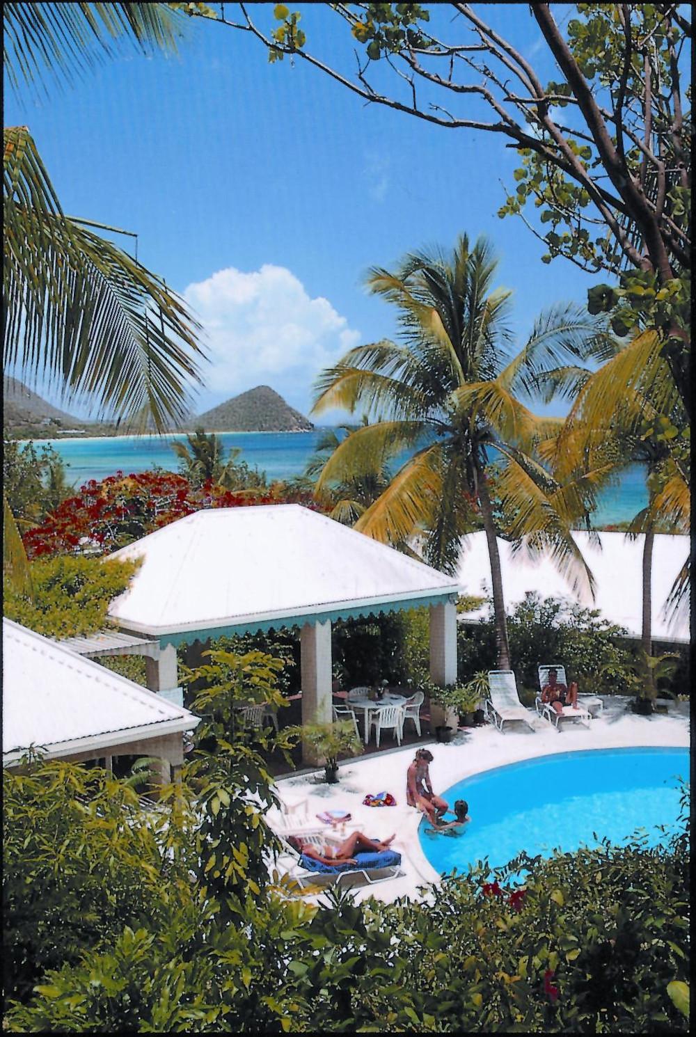 The pool at Sugar Mill Hotel on Tortola