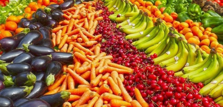 Colorful fresh produce