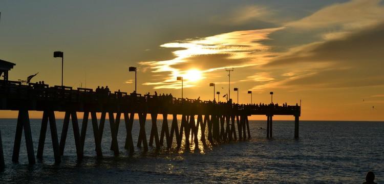 Venice Fishing Pier at sunset