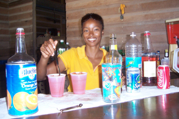 Bartender at Scilly Cay