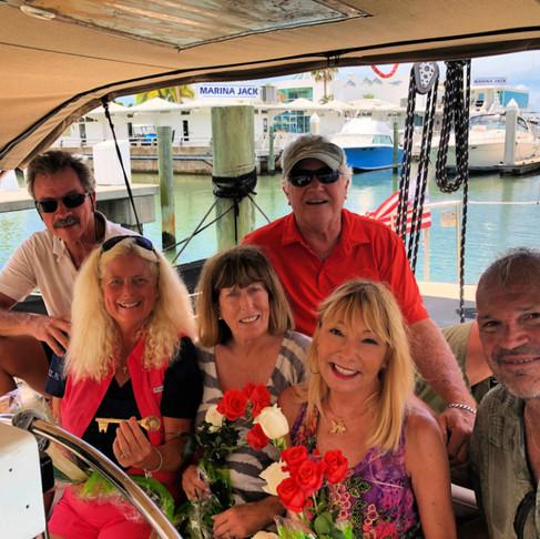 Celebrating on a Sailboat is a (Key) Breeze!