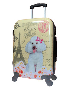 """Chariot 20"""" Carry-On Paris Poodle: Paris themed carry-on with French Poodle"""