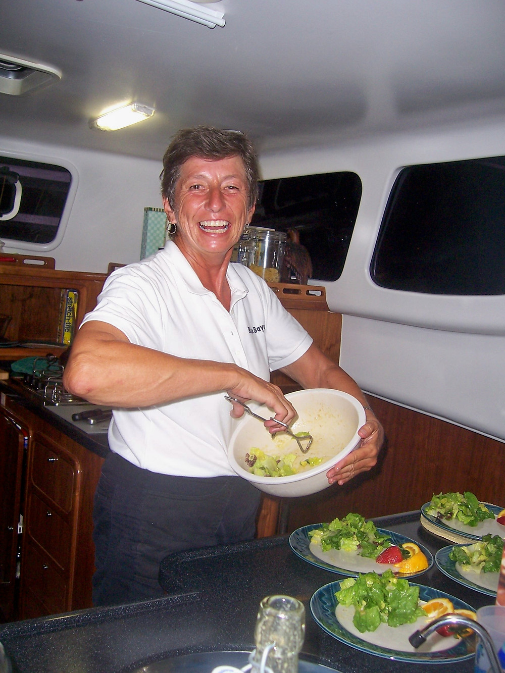 June, Wally's first mate and our fabulous cook