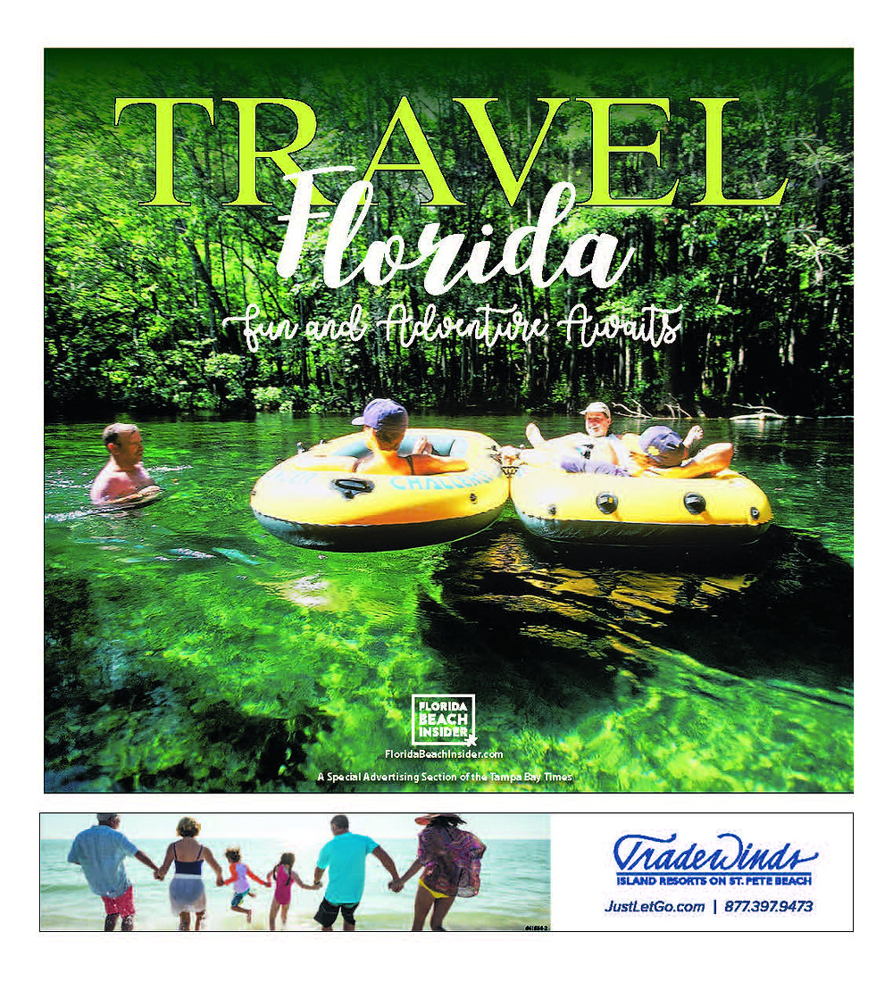 Cover page of the Tampa Bay Times' 2018 Travel Florida section