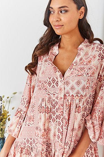 Ibiza Dress-Roze