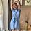 Thumbnail: T-shirt dress blauw