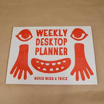 Weekly desktop planner