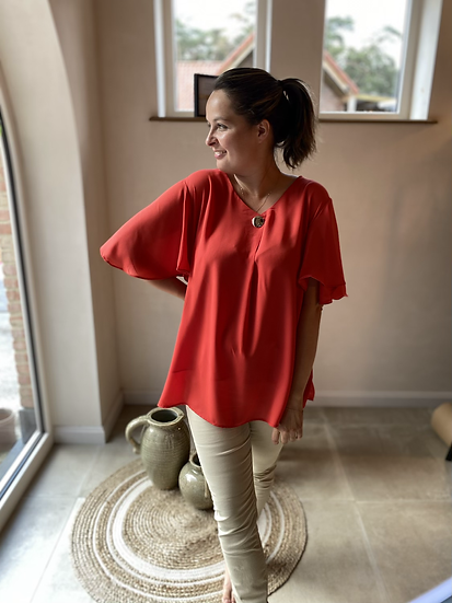 Summer Vibes Blouse Rood