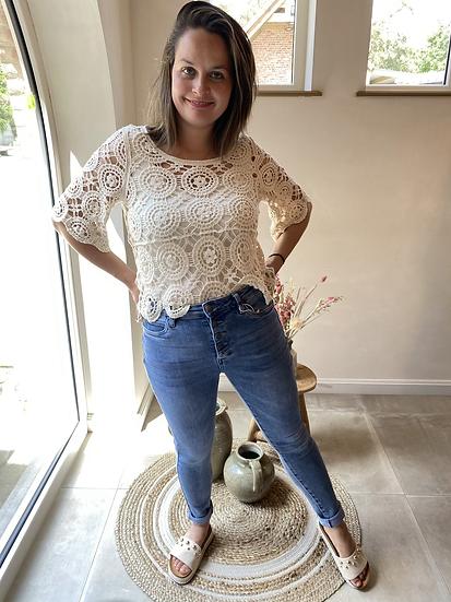 Crochet Sweater beige
