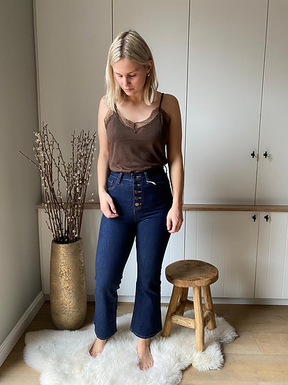 Highwaisted jeansbroek