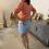 Thumbnail: Cosy high waist jeans short