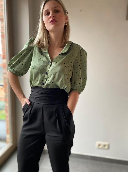 Groene elegant bloes