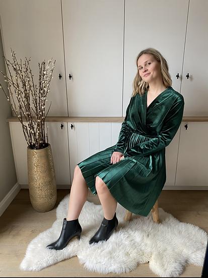 Velvet dress - groen