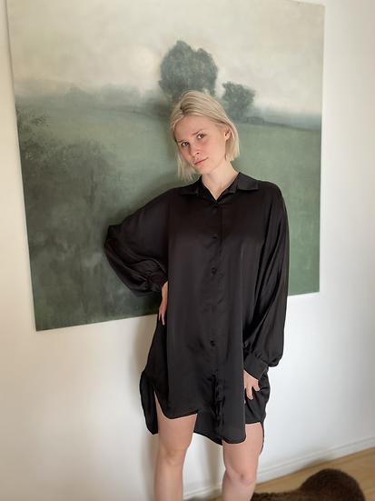 Rachelle Dress satijn - zwart