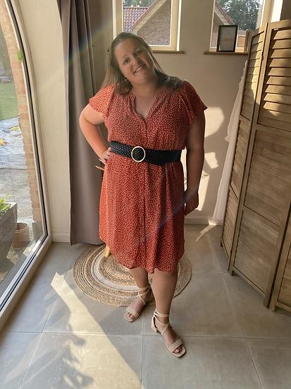 Julia Dress Oranje/rood