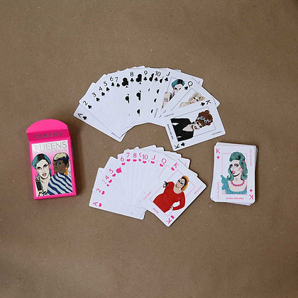 Queens gaming cards. A Drag Queen Card Race
