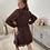Thumbnail: Elegance dress zwart/bruin